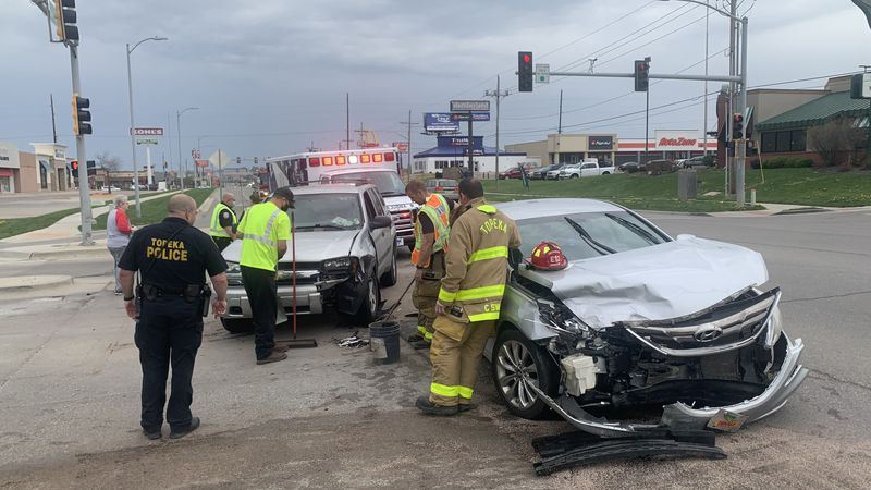 One person was taken to a local hospital after a two-vehicle collision late Tuesday morning in...