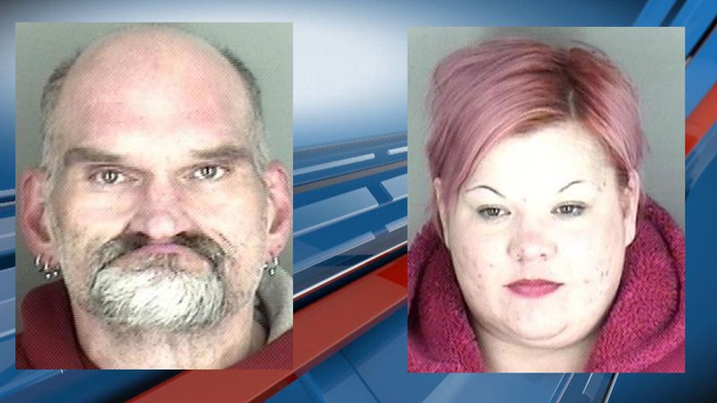 A man and a woman are in custody after a traffic stop on Sunday afternoon.