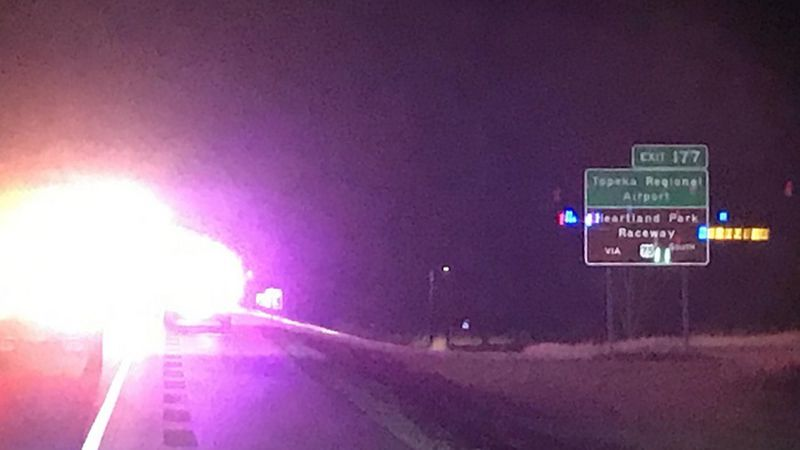 Authorities say a person was struck and killed along the Kansas Turnpike, near Topeka March 4,...