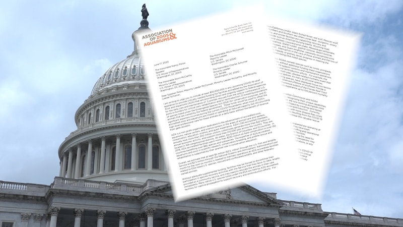 Association of Zoos and Aquariums are asking for $30 million from Congress to help their...