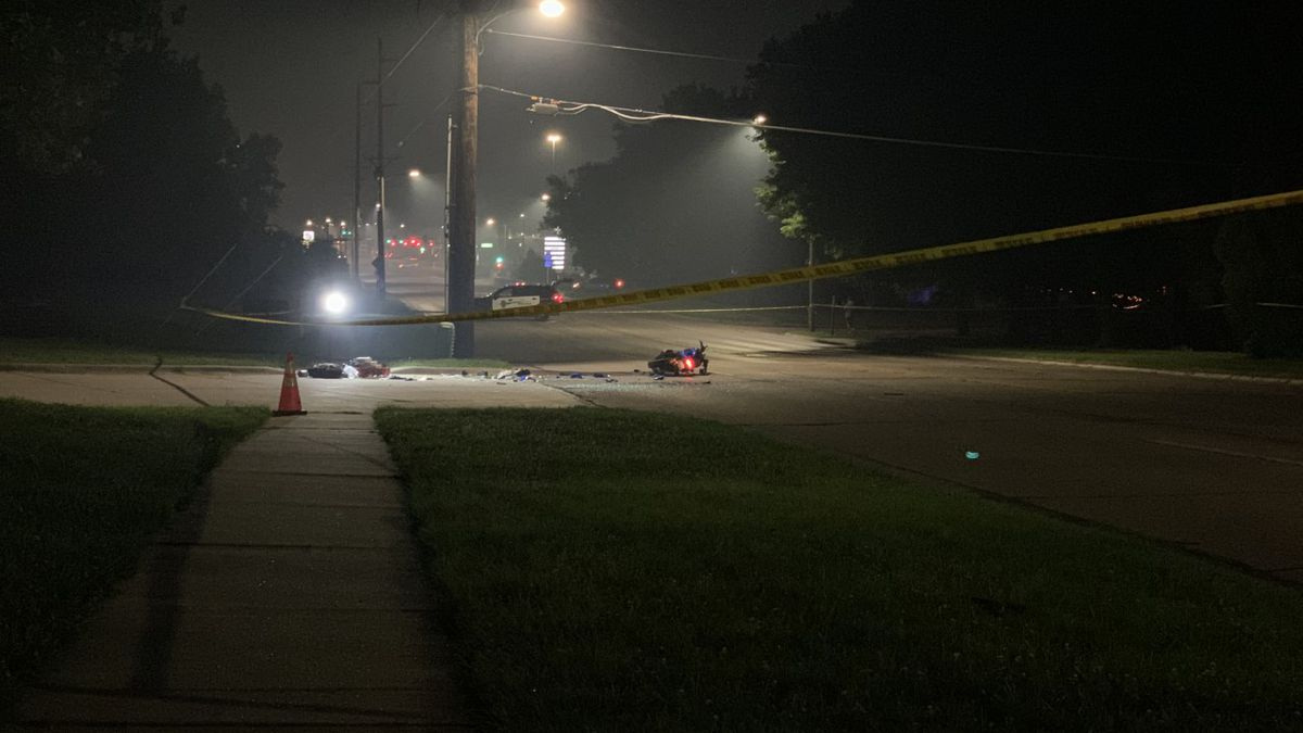 A motorcycle rider is in critical condition after a hit and run.