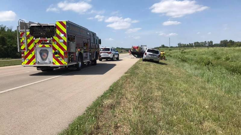 A Carbondale man was injured when his car crossed the median on Hwy. 75 near SW 77th St. and...