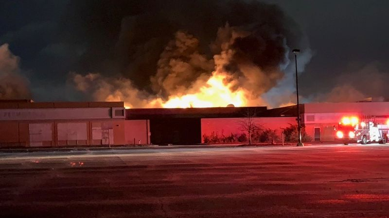 Topeka Fire Crews respond to White Lakes Mall early Tuesday morning.