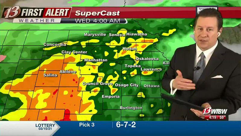 Heavy rain late tonight and early Wednesday