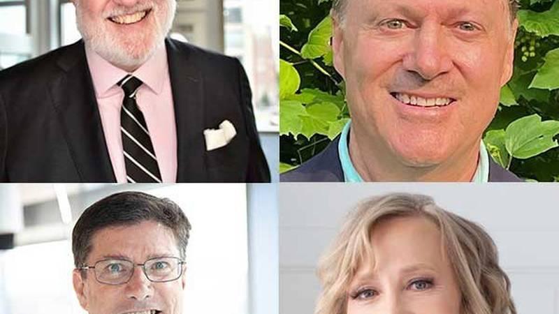 NIIMBL Senior Fellows clockwise: Jeffery Baker, Ph.D., Tim Charlebois, Ph.D., Roger Hart,...