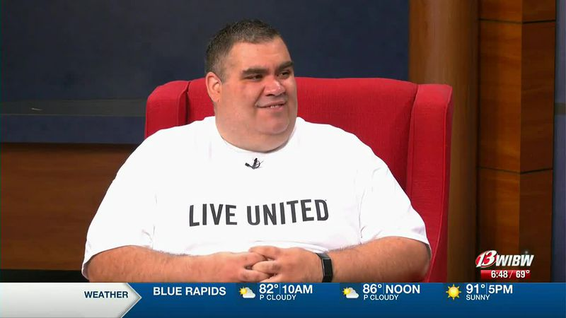 FILE - Angel Romero shares details of United Way's Day of Giving Wednesday, June 9