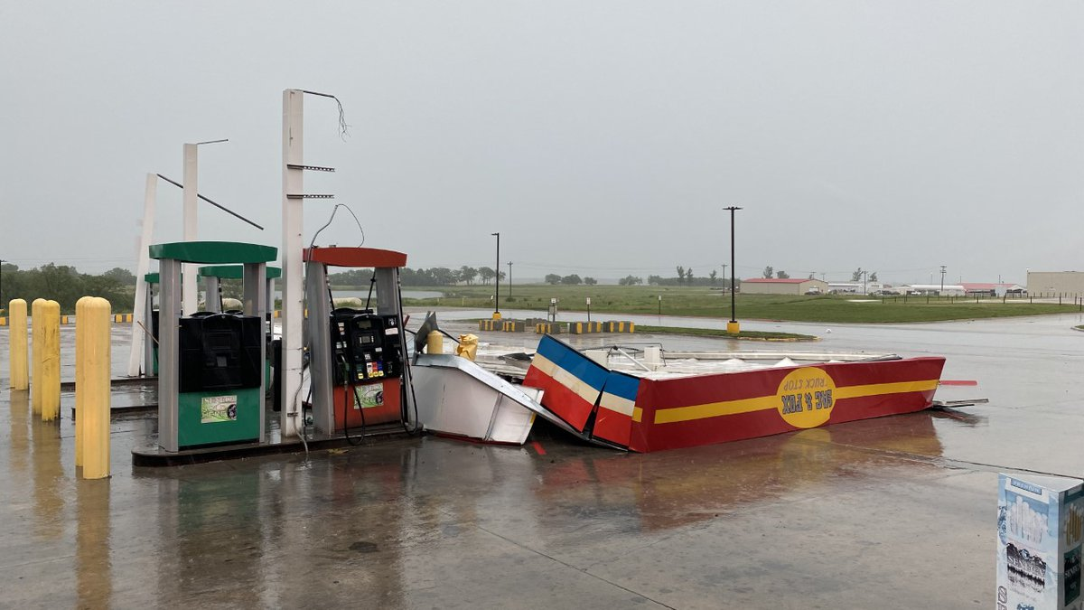 Wind damage Sac and Fox Truck Stop