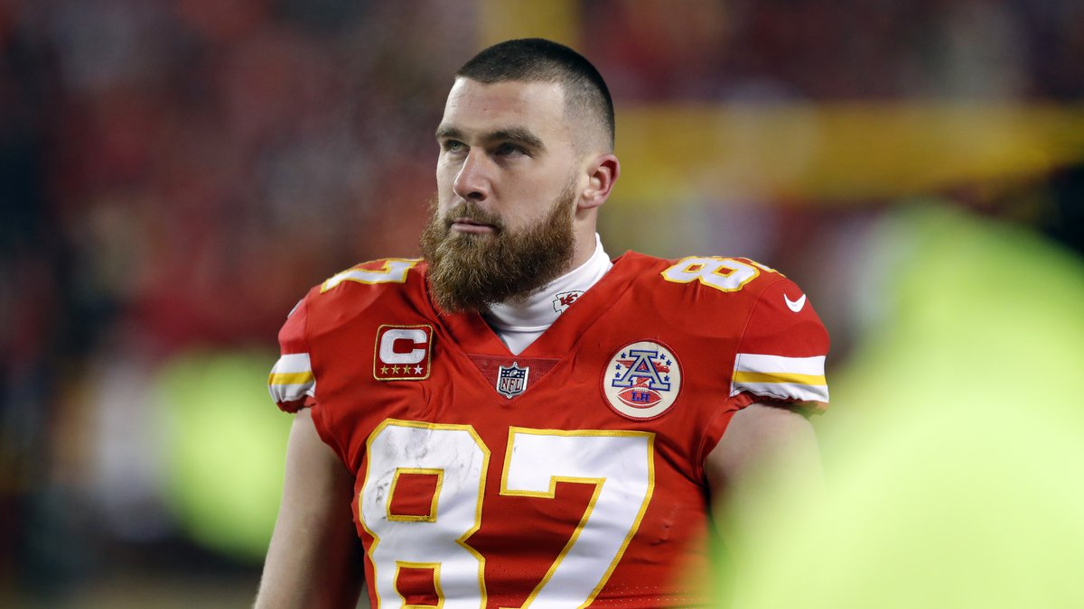 Kansas City Chiefs tight end Travis Kelce (87) during the second half of the AFC Championship...