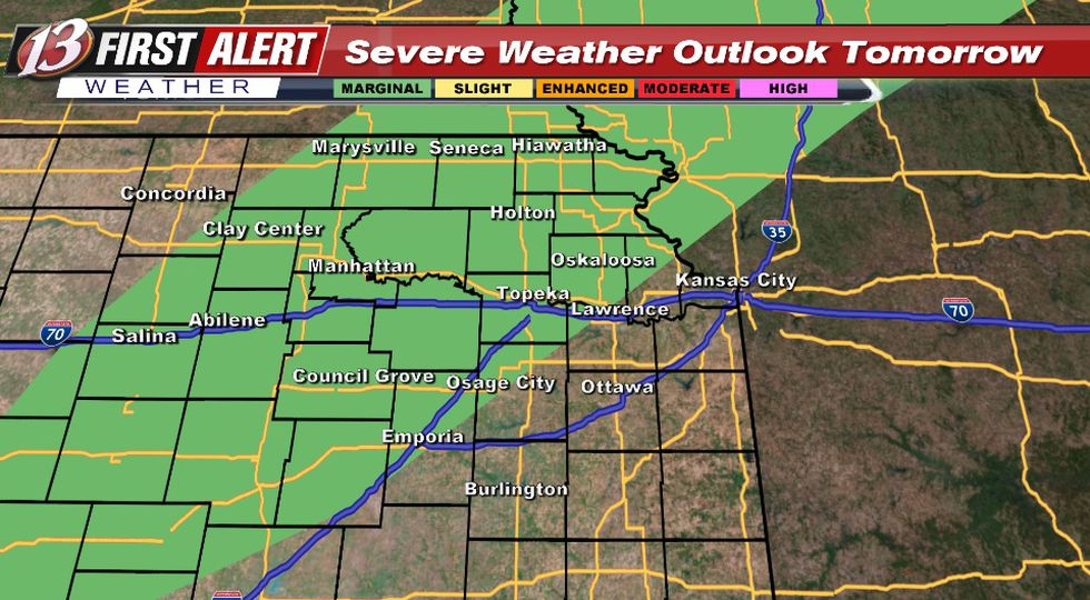 Hail the main hazard with storms after 4pm Thursday