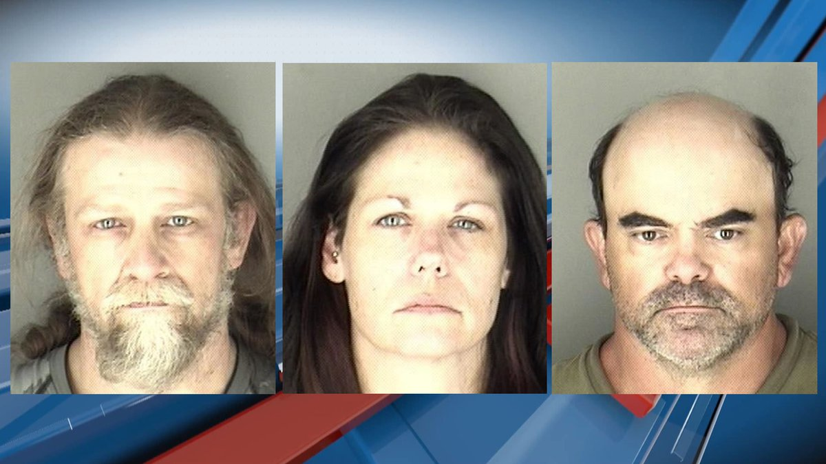 From Left to Right, Charles Goodman, 48, Jennifer Rietbrock, 44, and Michael Perry, 49, all...