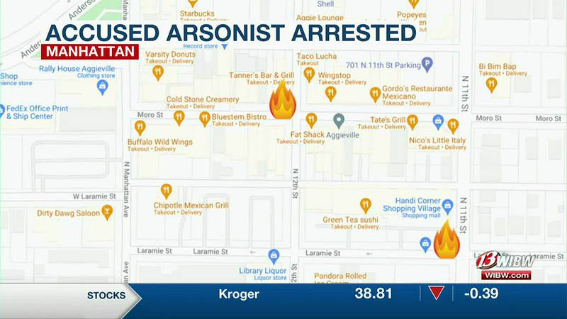Man arrested for Aggieville arsons