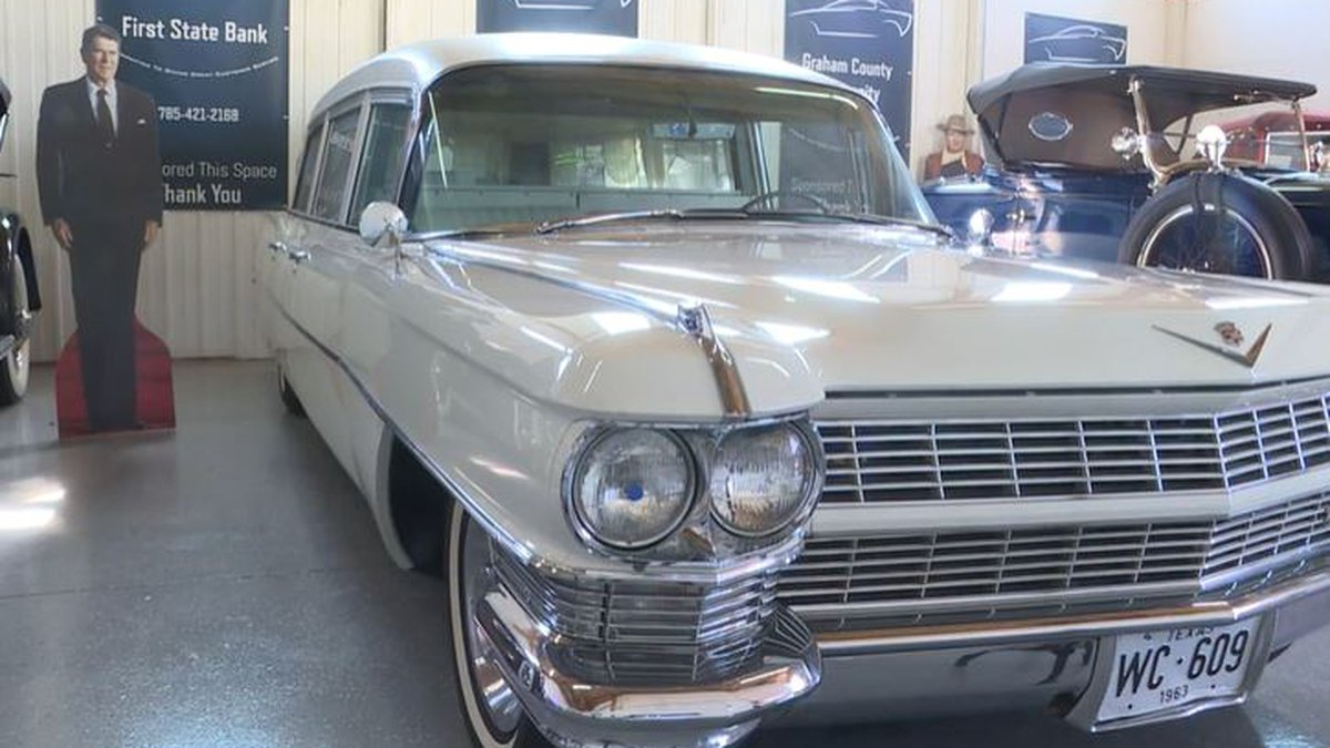 This 1964 MIller-Meteor Classic Cadillac hearse was used to transport John F. Kennedy from...