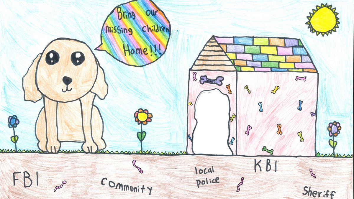 Lillian Wiedwald won second place in KBI's poster contest