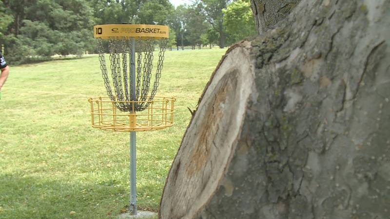 Disc golfers flocked to Emporia for the United States Match Play Doubles Championship on...