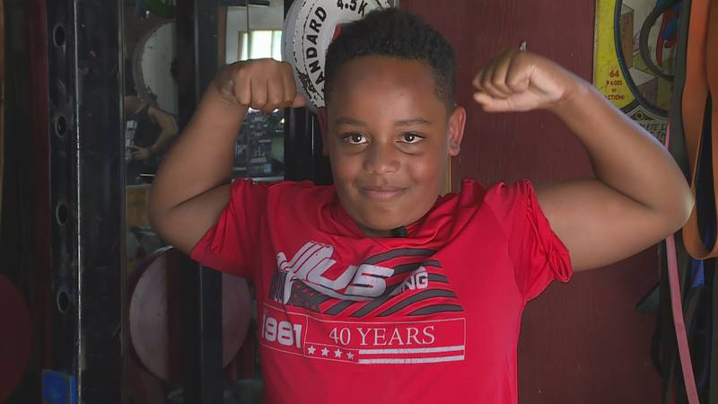 """Topeka nine-year-old becomes """"Worlds Strongest Kid"""""""