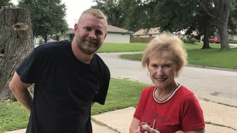 Eric Connell saved Peggy Welsh from her car in July.