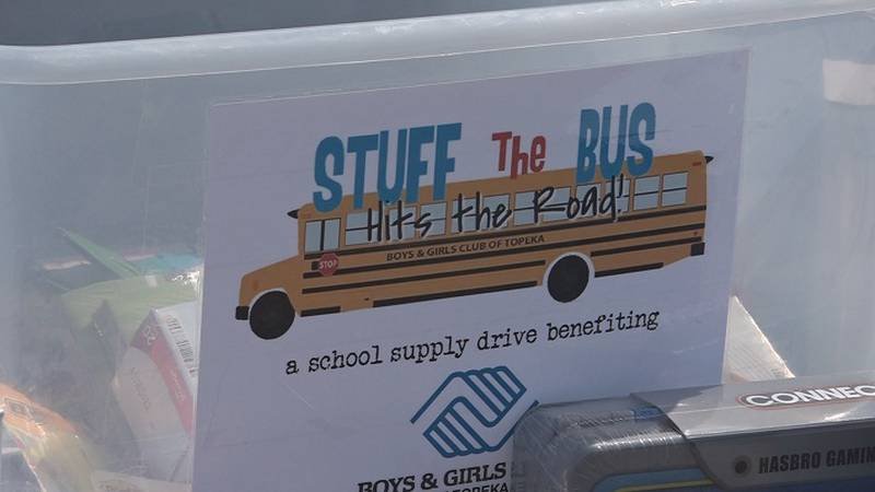The Boys and Girls Club of Topeka held their annual Stuff the Bus event