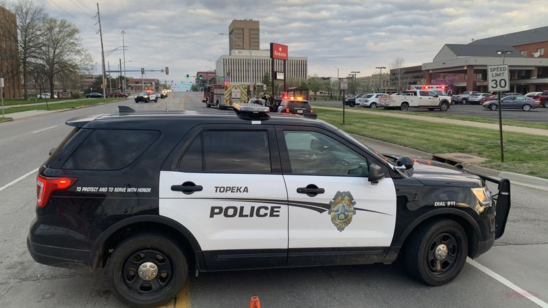 One person died Monday morning after a single-vehicle crash in downtown Topeka, police said.