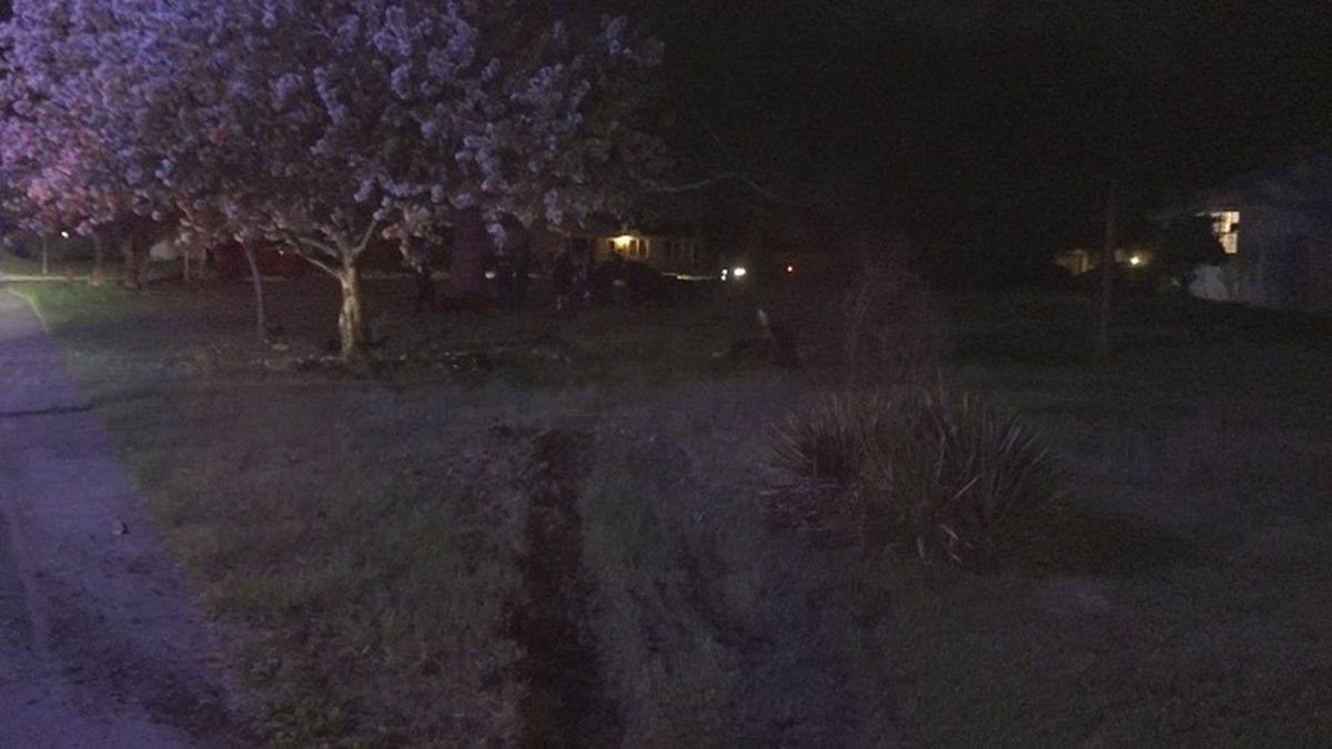 TPD investigating wreck on 21st and Burnett, leaving a vehicle in a residence's front yard