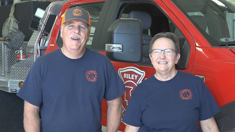 Salute Our Heroes - Husband and wife volunteer with Riley Co. Fire Dept.