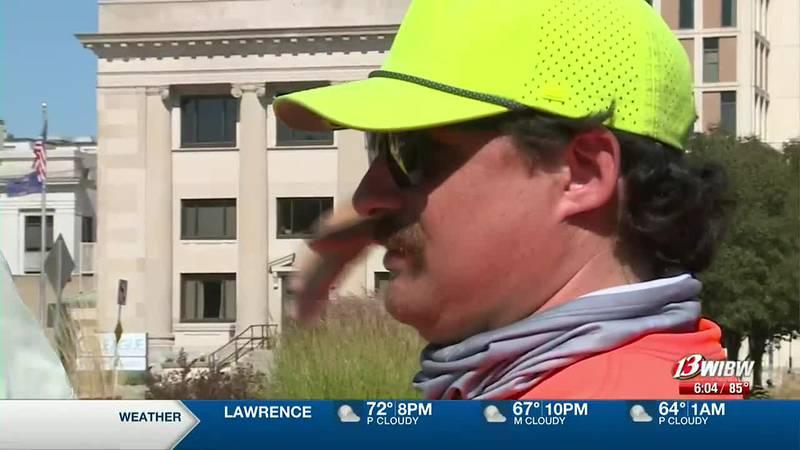 Jake Hentzen is walking across Kansas to raise awareness for the organization Unbound