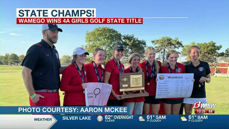 STATE CHAMPS! Wamego girls golf takes title by one stroke