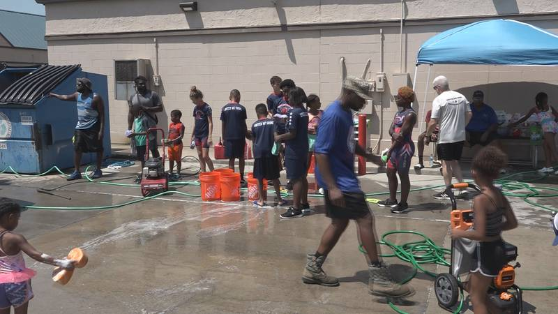 The Team United Stars Track Club hosted a car wash to raise money for the athletes.