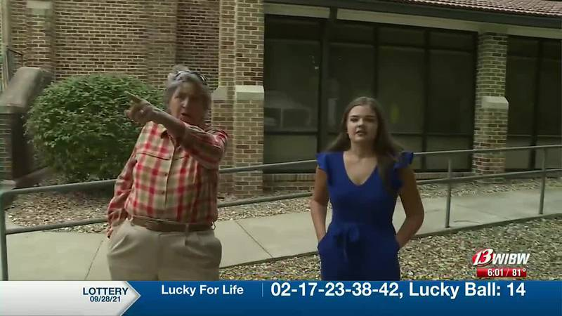 Marcy Carlson (left), a member of Trinity Lutheran Church said she used her connections at the...