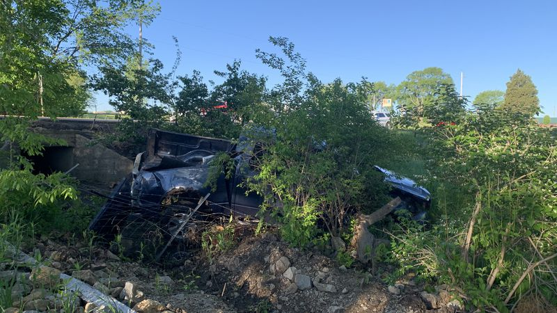 Crews were responding to a report of a car that went into a creek early Thursday just east of...