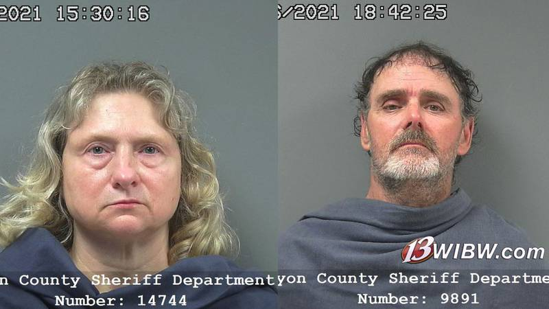 Rhonda (left) and Thomas (right) Staggs were arrested for animal cruelty.