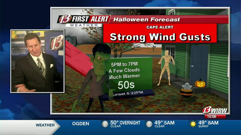 Windy and 60s on Halloween