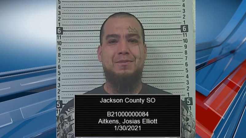 Josias Elliot Aitkens of Mayetta was arrested for possession of a firearm in Jackson County.