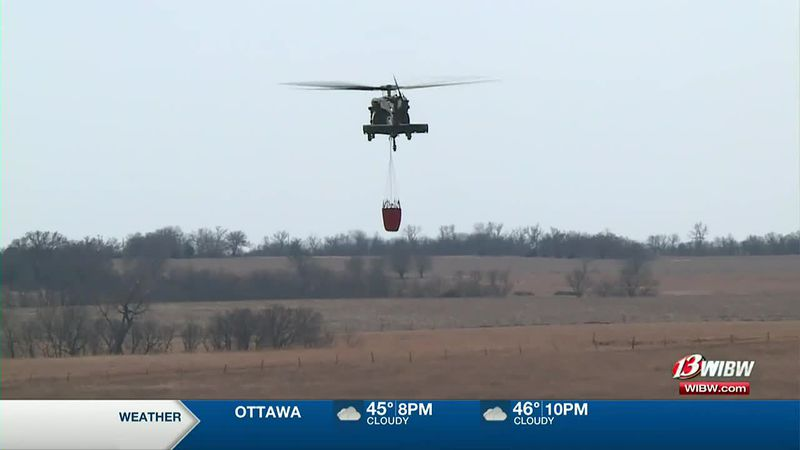 Kansas Army National Guard sends the Blackhawk to assist fires