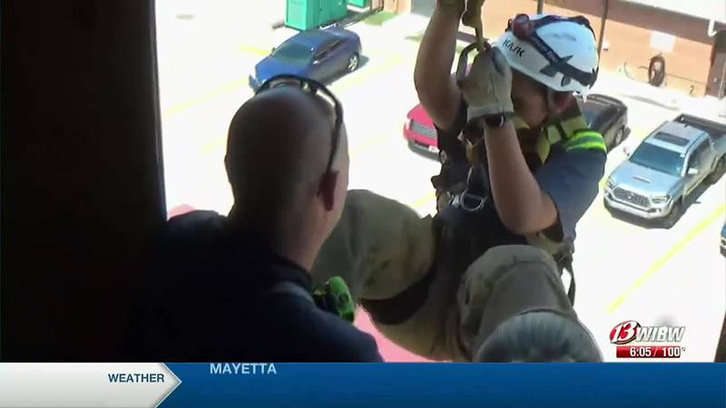 Topeka Fire Department finishes off Camp Courage with a ceremony
