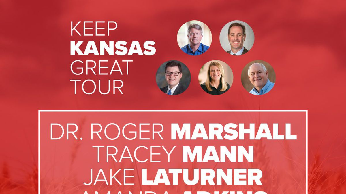 """The """"Keep Kansas Great"""" bus tour stopped in Topeka Tuesday morning."""