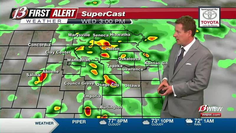 Heavy rain possible through Wednesday