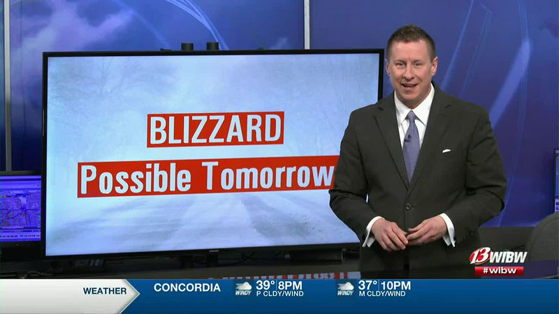 Blizzard potential tomorrow