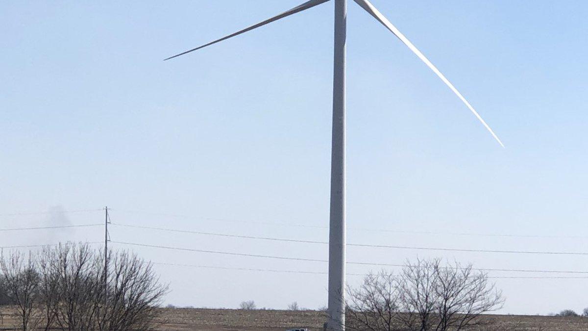 A Nemaha Co. wind turbine was shot, causing $780,000 in damage.