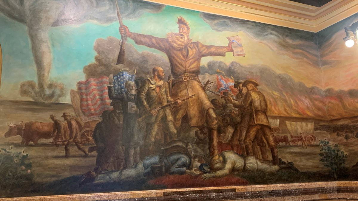 FILE - KANSAS HISTORY: The Tragic Prelude features John Brown, an abolitionist, with a...