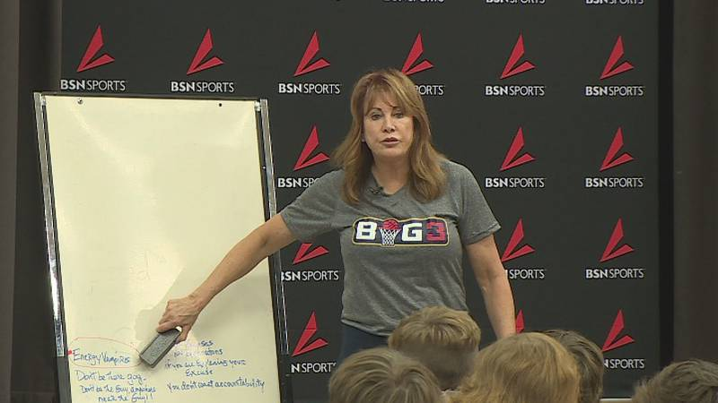 Basketball Hall of Famer Nancy Lieberman took a trip to Mission Valley to give lessons to the...