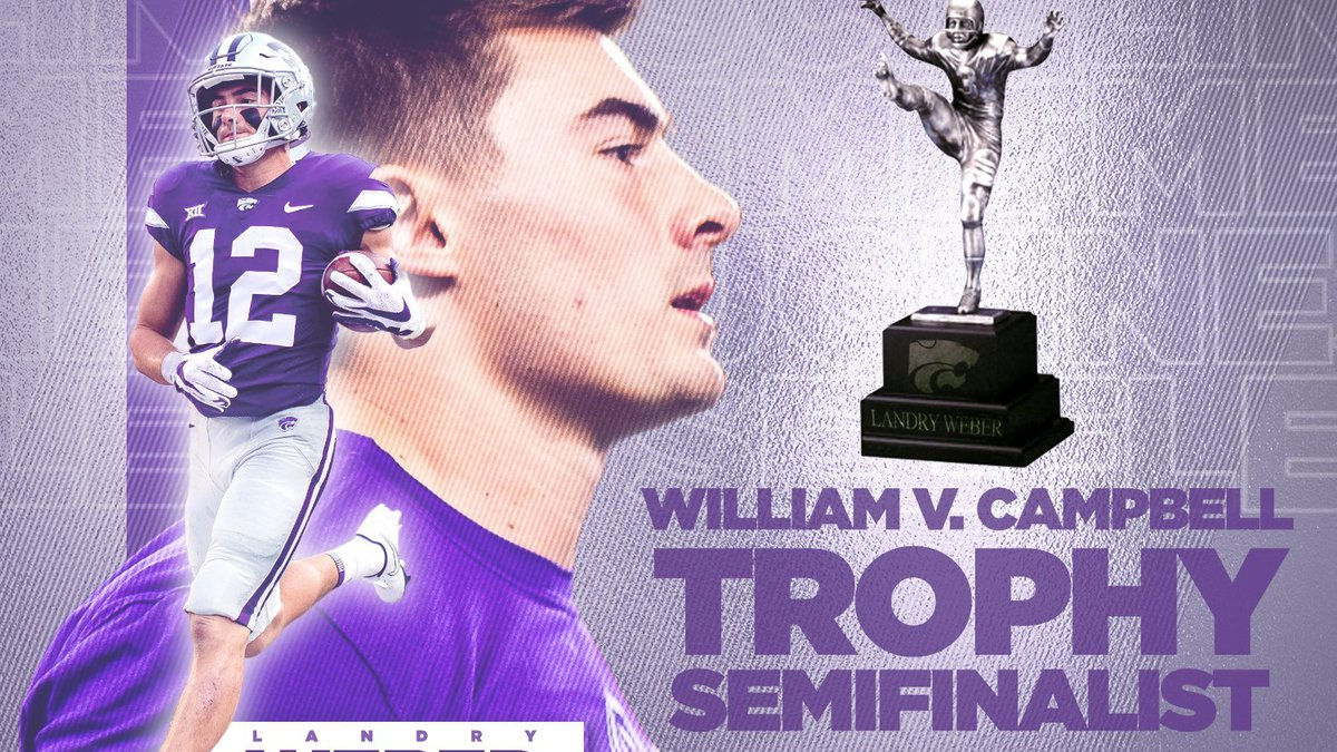Landry Weber, a K-State WR, has been named a semifinalist for the William V. Campbell Trophy