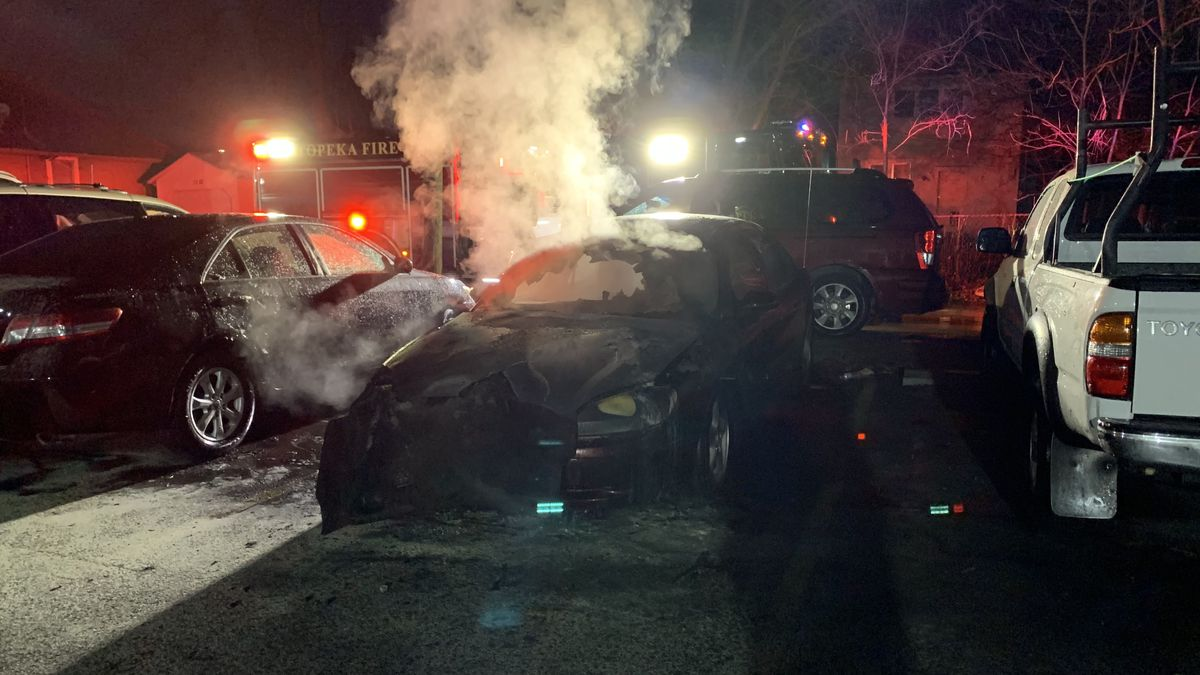 A Ford Taurus caught fire early Tuesday behind a business in the 1100 block of S.W. 17th.
