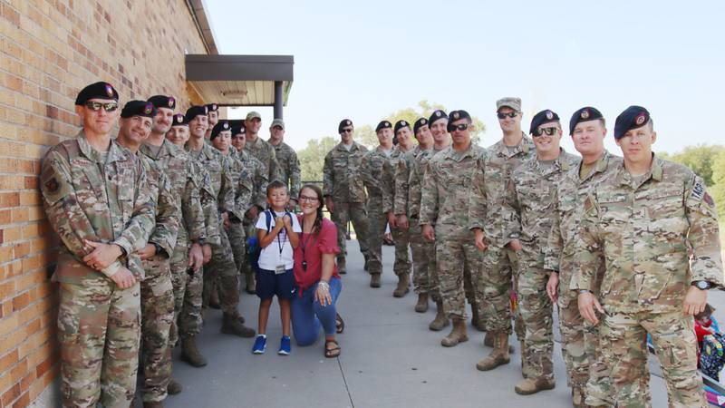 Berryton Elementary shared this photo of the 284th Air Support Squadron welcoming late TSgt....