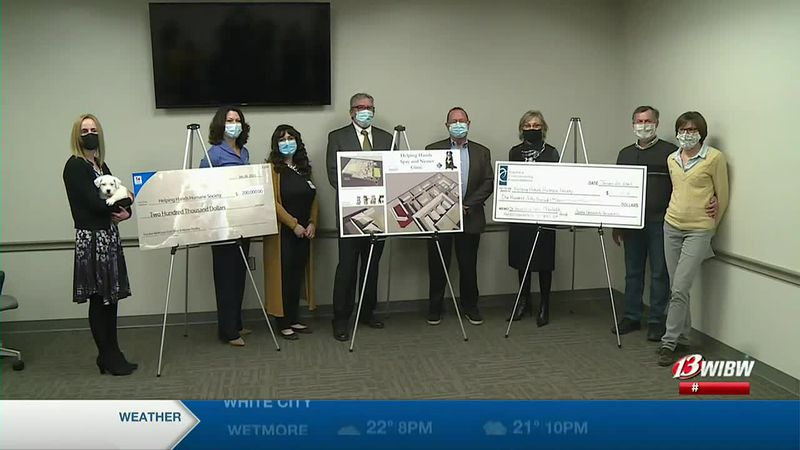 Hill's Pet Nutrition presents a $200,000 donation to Helping Hands Humane Society for a new...