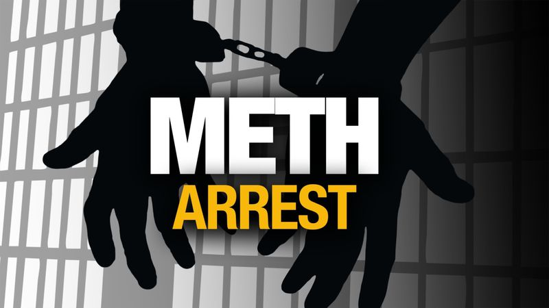 Three people were arrested in connection with methamphetamine possession Monday afternoon in...