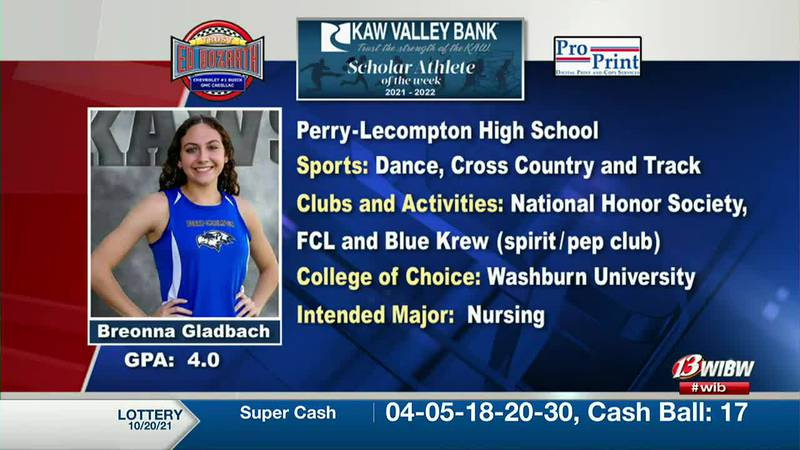 Scholar-Athlete of the Week: Perry-Lecompton's Breonna Gladbach