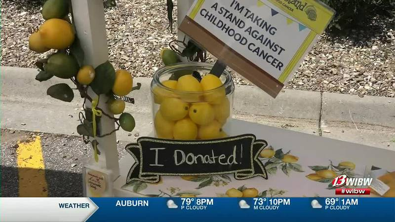 Alex's Lemonade Stand joins in on Hy-Vee's summer parking lot party.