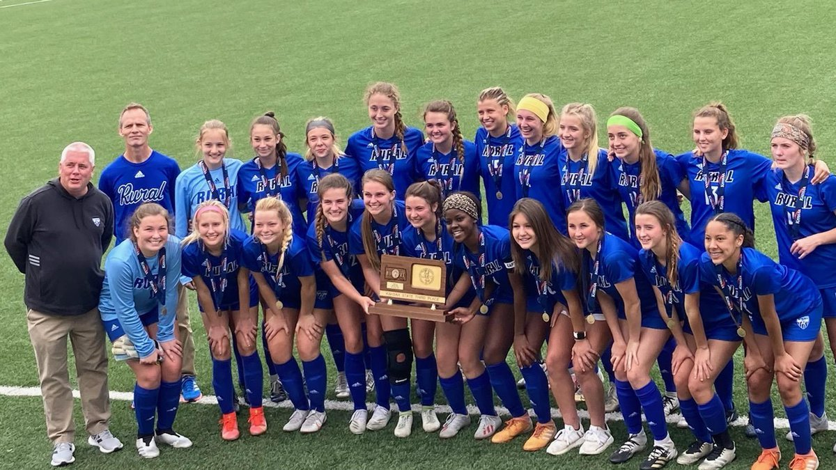 The Lady Blues beat Manhattan 3-1, giving the team a 3rd place finish in the 6A Girls Soccer...