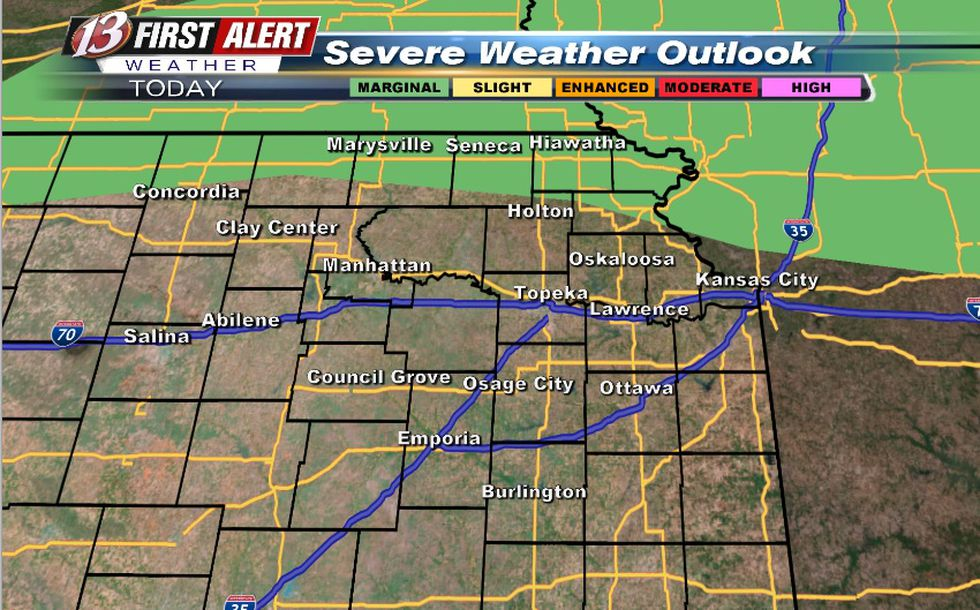 Conditional risk storms even exist late Monday afternoon into Monday night (hail/wind risk)