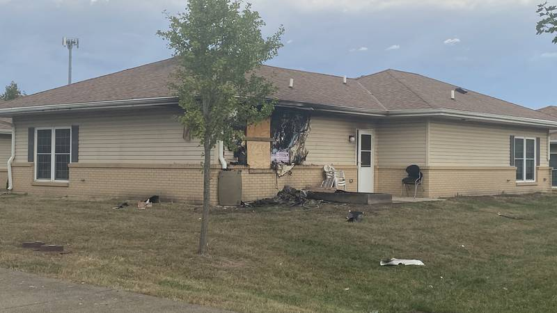 Damage caused by electric fire in East Topeka